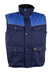 D-FORCE texas bodywarmer navy blauw/royalblauw